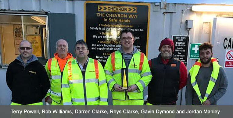 Chevron Newport is awarded Depot of the Year 2016
