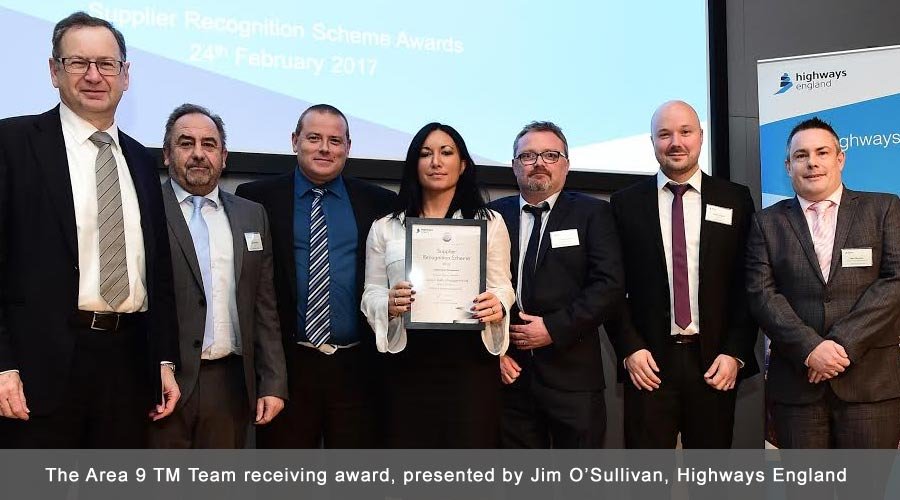 Chevron and the Area 9 TM Team highly commended at the recent Highways England Supplier awards