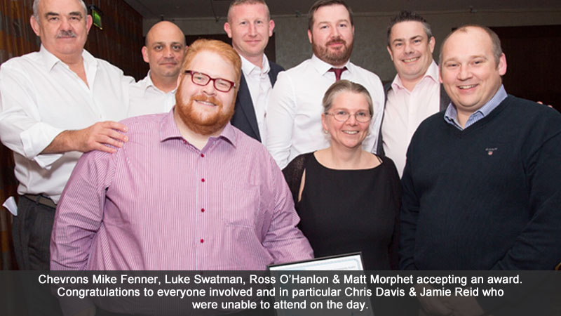 Chevron & the Area 3 TM Team celebrate success at the Kier Supply Chain Community Awards