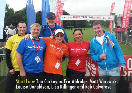 Team Chevron takes part in the London 2 Brighton 100K walk