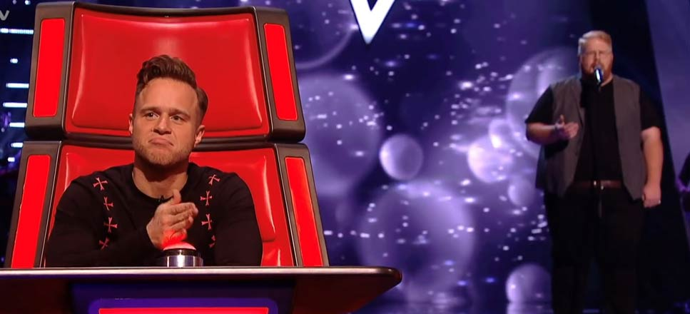 Chevron's Luke Swatman performs on 'The Voice UK'