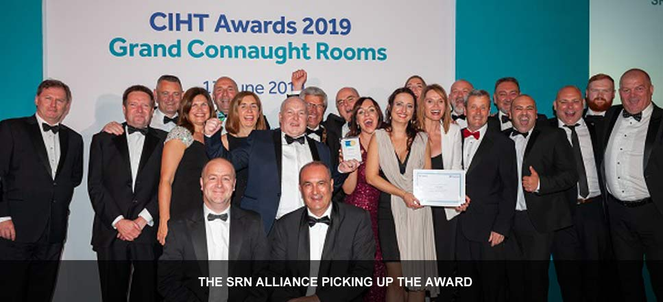 SRN Alliance (Area 3 & Area 9) win the CIHT Collaboration award 2019