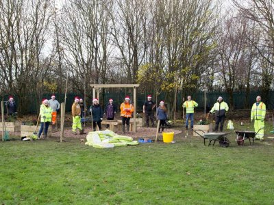 Chevron TM Helps create outdoor learning space for local school