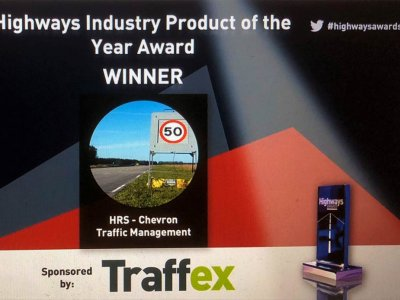 Smart sign wins product of the year award for Chevron TM and HRS